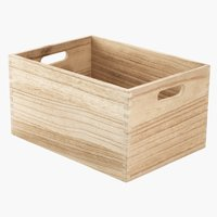 Basket THORMOD W24xL34xH18cm wood