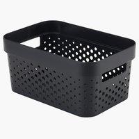 Panier INFINITY 4,5L plastique noir