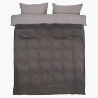 Duvet cover CATERINA Micro KNG grey