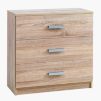 3-drawer chest KABDRUP oak