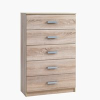 5 drw chest KABDRUP wide oak