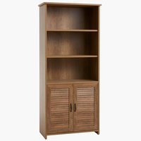 Bookcase MANDERUP 2 door 3+1 sh wild oak