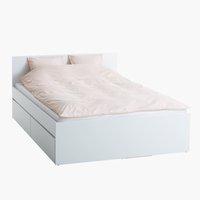 Ram kreveta LIMFJORDEN 160x200 bela