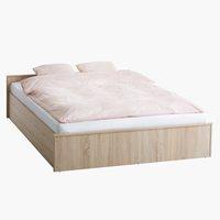 Ram kreveta GENTOFTE 140x200 hrast