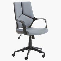 Krzesło biurowe RAVNING szary/czarny