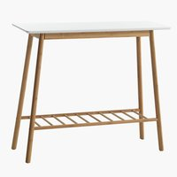 Table console VANDSTED 30x90 bla/bambou