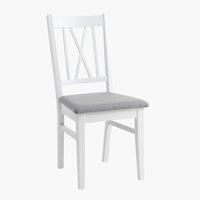 Chaise NORDBY blanc/gris