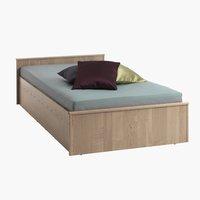 Ram kreveta GENTOFTE 90x200cm hrast