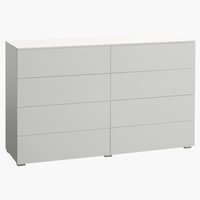 4+4 drawer chest OLDRUP white high gloss