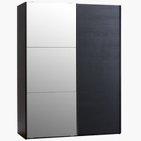 Wardrobe ONSTED 151x201 w/mirror black