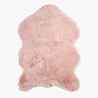 Faux Lambskin TAKS 60x90cm dusty rose