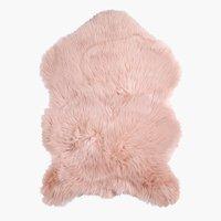 Imitatie blană TAKS 60x90cm roz prăfuit
