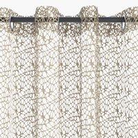 Záclona LURO 1x140x245 pavučina písková