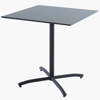 Table de bistrot STRANDBY l70xL70 noir