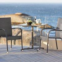 Balkonový stolek STRANDBY Š70xD70 černá
