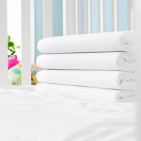 Flannel sheet SGL white