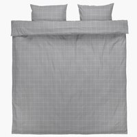 Duvet cover THERESA Flannel DBL grey