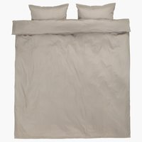 Duvet cover INGEBORG Sateen DBL grey