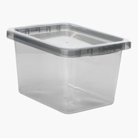 Škatla BASIC BOX 9 L s pokrovom siva