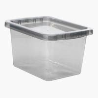 Úložný box BASIC BOX 9L s vekom sivá