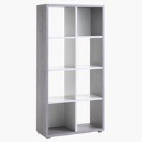 Roomdivider HALDAGER beton/wit