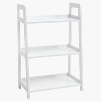 Bookcase HERNING 3 shlv. white