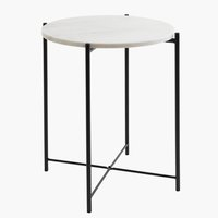 End table HAARBY D45 cm marble/black
