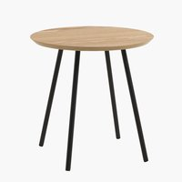 End table TERP D40 cm oak/black