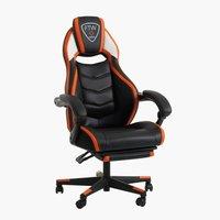 Chaise gaming GAMBORG noir/orange