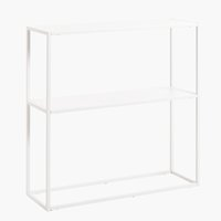Console table VIRUM 26x80 cm white