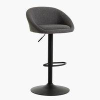 Krzesło barowe TAULOV szary/czarny