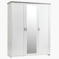Wardrobe MANDERUP 166x210 white/concrete