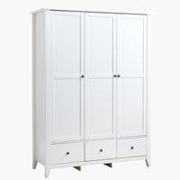 Skab NORDBY 150x200 hvid