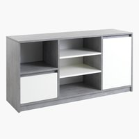 Sideboard BILLUND 1 door white/concrete