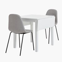 NORDBY L120 white + 4 UK LYSTRUP black